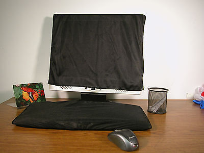 Keyboard and Monitor Dust Cover-Black Only