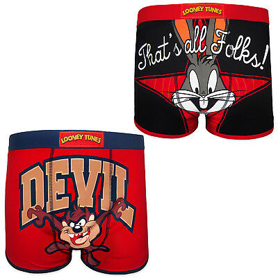 Looney Tunes Bugs Bunny Taz Official Gift 1 Pack Mens Trunks Boxer Shorts