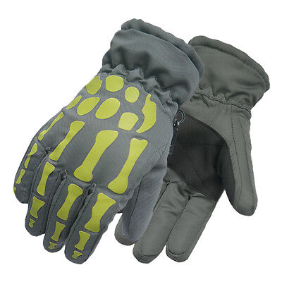 Boy Girls Waterproof Outdoor Cycling Ski Winter Cold Weather Gloves Finger Glove