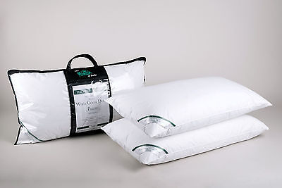 Pair of Luxury Super King Size Pillows 100% Premium Hungarian White Goose Down