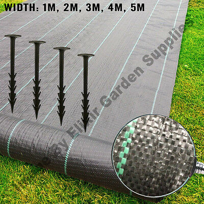 Landscape Fabric Weed Control Woven Porous Ground Cover 1m 2m 3.3m 4m 5m Widths