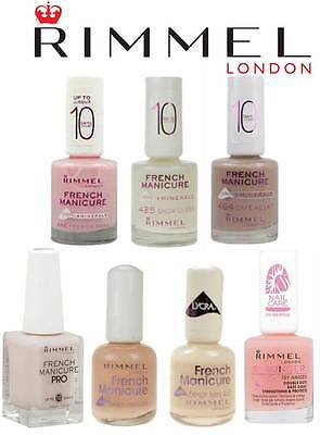 Rimmel Lycra / Pro French Manicure / Base Nail Polish Brand New **Choose Type**