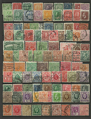 BRITISH COMMONWEALTH KING GEORGE V Collection Packet 100 Different Stamps Used