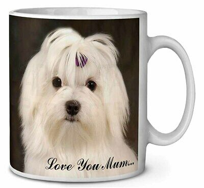 Maltese Dog 'Love You Mum' Coffee/Tea Mug Christmas Stocking Filler , AD-M1lymMG