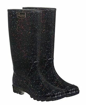 Briers Ladies Wellington Boots Stardust UK Size 6 Funky Wellies