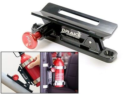 Fire Extinguisher Mount BLACK Bronco and Classic Car Safety  SCOTT DRAKE