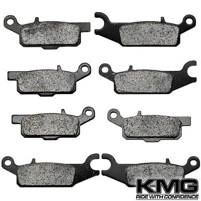 Front + Rear Carbon Kevlar Brake Pads For 2008-2011 Yamaha YFM 700 Grizzly