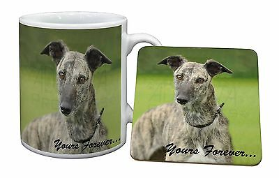 Greyhound Dog 'Yours Forever' Mug+Coaster Christmas/Birthday Gift Ide, AD-LU7yMC