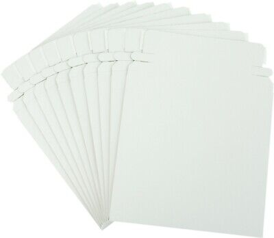 (10) CDBC06PB Paperboard CD Mailer Self Sealing with Flap DVD Media White Mail