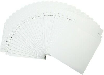 (25) CDBC06PB Paperboard CD Mailer Self Sealing with Flap DVD Media White Mail