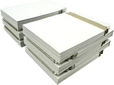 (100) CDBC06PB Paperboard CD Mailer Self Sealing with Flap DVD Media White Mail