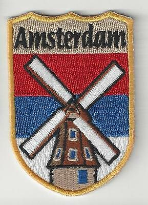Souvenir Patch  - City Of Amsterdam, Holland