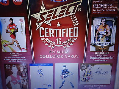 2016 Afl Select Certified Sealed Box Of 36 Packets Unsearched Case