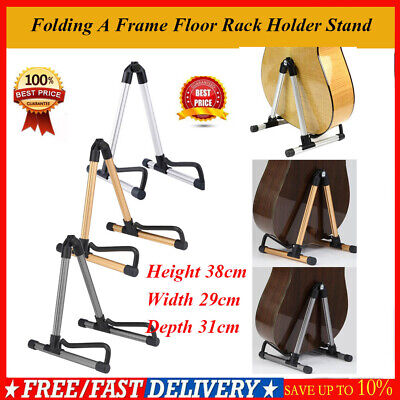 Aluminum Folding Electric Acoustic Bass Guitar Stand A Frame Floor Rack Holder