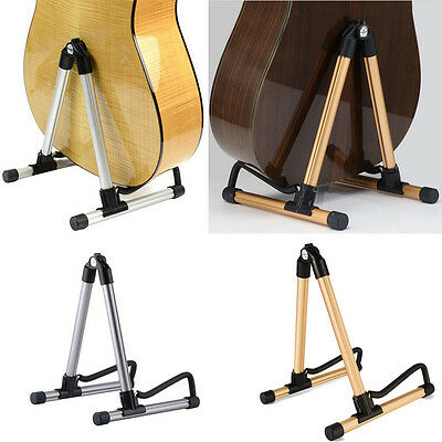 New Folding Electric Acoustic Bass Guitar Stand A Frame Floor Rack Holder Stand