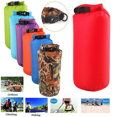 8L 15L Ultralight Waterproof Compression Canoe Camping Swimming Floating Dry Bag