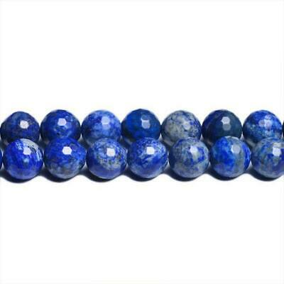 Strand Of 62+ Blue Denim Lapis Lazuli 6mm Faceted Round Beads CB31095-2