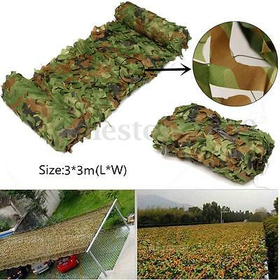 3x 3m Hunting Camping Jungle Camo Net CamouflageMesh Woodlands Hide Cover Army