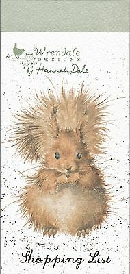 Wrendale  Country Set  Magnetic Shopping Pad Notebook List Squirrel