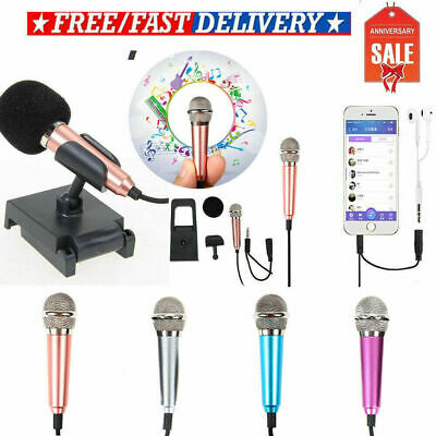 3.5MM Mini Wired Studio Stereo Condenser Microphone MIC with Stand Mount for PC