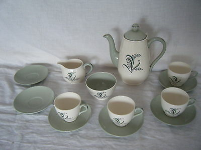 C4 Pottery Copeland Spode Olympus Coffee Service Set for 4 (+2 saucers) 6C3A