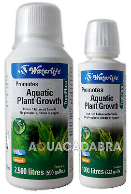 WATERLIFE TROPIFLORA 250ml AQUARIUM LIQUID PLANT FERTILISER FRESHWATER FISH TANK