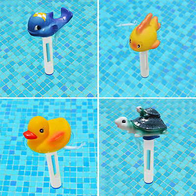Cute Animal Swimming Pool Spa Floating Thermometer Water Tub ℃ ℉ Temperature