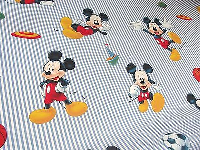 100% Cotton Fabric Material Disney - SPORTY MICKY MOUSE BLUE