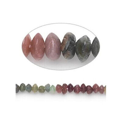 Strand Of 100+ Mixed Tourmaline Approx 3 x 4mm Handcut Rondelle Beads FM9891