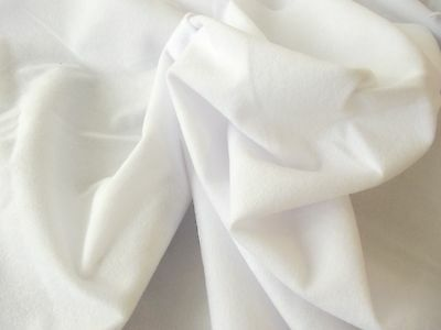 Faux Suede Suedette 100% Polyester Fabric Materia 170g - WHITE