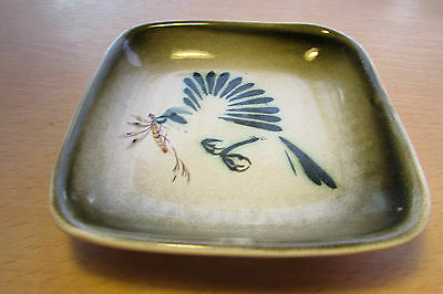 Vintage Honiton Pottery Pin Tray Unusual Dragonfly Design