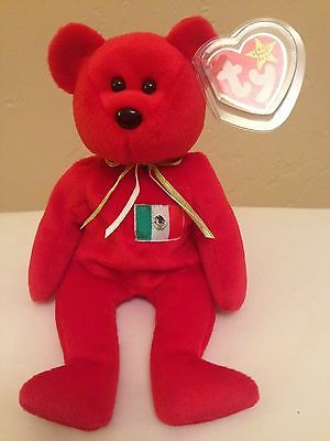 1999 Osito Ty Beanie Bear New with tag protector
