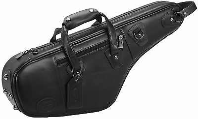 Reunion Blues Clearance Sale, Black Leather Alto Saxophone Pro Gig Bag 720-15-29