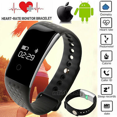 2016 Hot Smart Wrist Watch IP68 Spo2 Heart Rate Oxygen Monitor Fitness Tracker