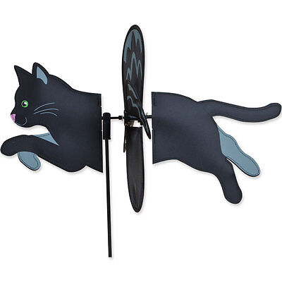 Black Cat Garden Wind Spinners