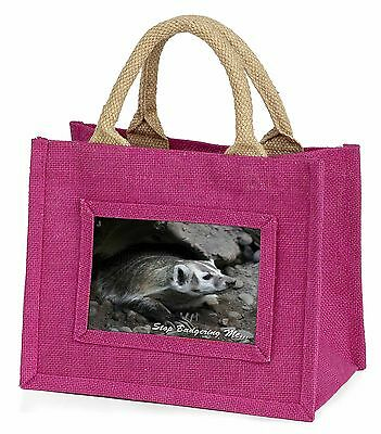 Badger-Stop Badgering Me! Little Girls Small Pink Shopping Bag Christm, ABA-3BMP