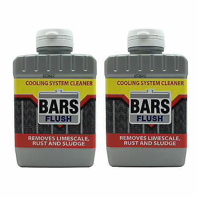 2 x Bars FLUSH Car Radiator Rad Cooling System Cleaner Rust Limescale Remover