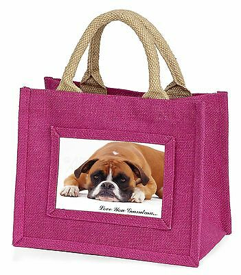 Red Boxer Dog 'Love You Grandma' Little Girls Small Pink Shopping , AD-B26lygBMP