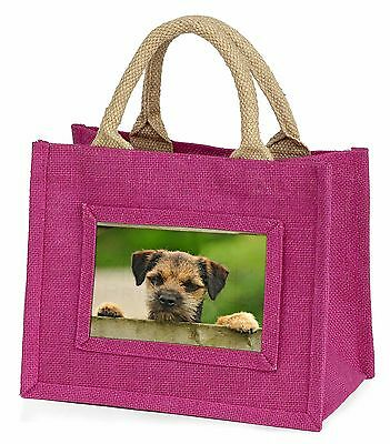 Border Terrier Puppy Dog Little Girls Small Pink Shopping Bag Christm, AD-BT5BMP