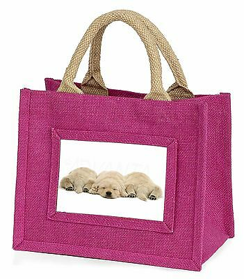 Golden Retriever Puppies Little Girls Small Pink Shopping Bag Christm, AD-GR3BMP