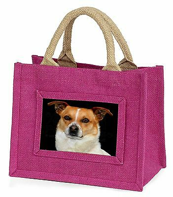 Jack Russell Terrier Dog Little Girls Small Pink Shopping Bag Christ, AD-JR38BMP