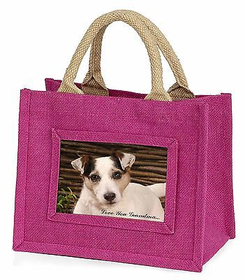 Jack Russell 'Love You Grandma' Little Girls Small Pink Shopping , AD-JR56lygBMP