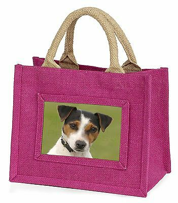 Jack Russell Terrier Dog Little Girls Small Pink Shopping Bag Christ, AD-JR57BMP