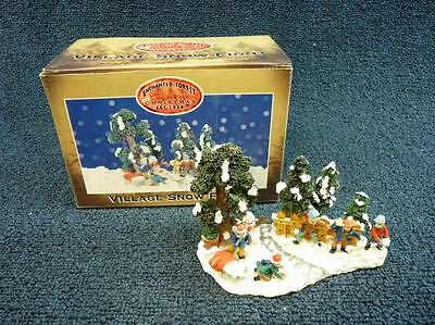 Lemax Enchanted Forest Village Snow Fight Figurine (a479)