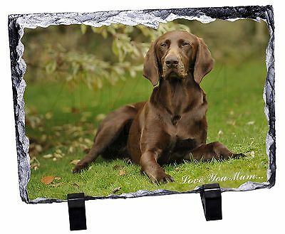 German Pointer Dog 'Love You Mum' Photo Slate Christmas Gift Ornam, AD-GSP1lymSL