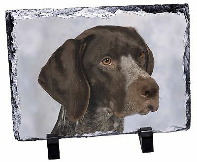German Pointer Dog Photo Slate Christmas Gift Ornament, AD-PG2SL