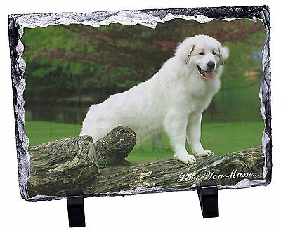 Pyrenean Mountain Dog 'Love You Mum' Photo Slate Christmas Gift Orn, AD-PM1lymSL