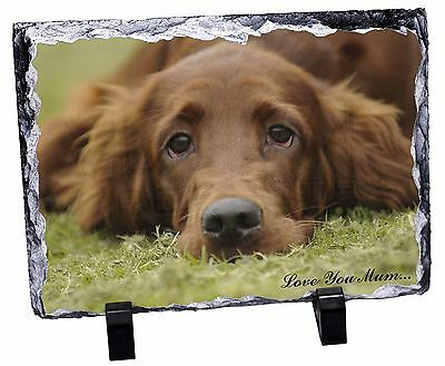Red Setter Dog 'Love You Mum' Photo Slate Christmas Gift Ornament, AD-RS2lymSL