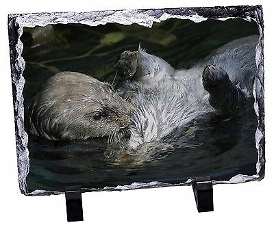 Floating Otter Photo Slate Christmas Gift Ornament, AO-3SL