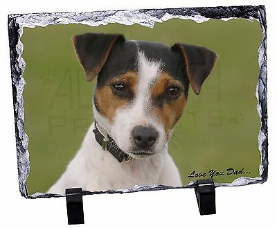 Jack Russell 'Love You Dad' Photo Slate Christmas Gift Ornament, DAD-60SL